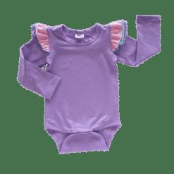 Lavender Triflutter Long Sleeve fluttersuit