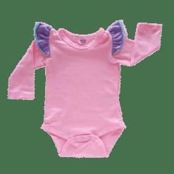 bubblegum pink Triflutter Long Sleeve fluttersuit