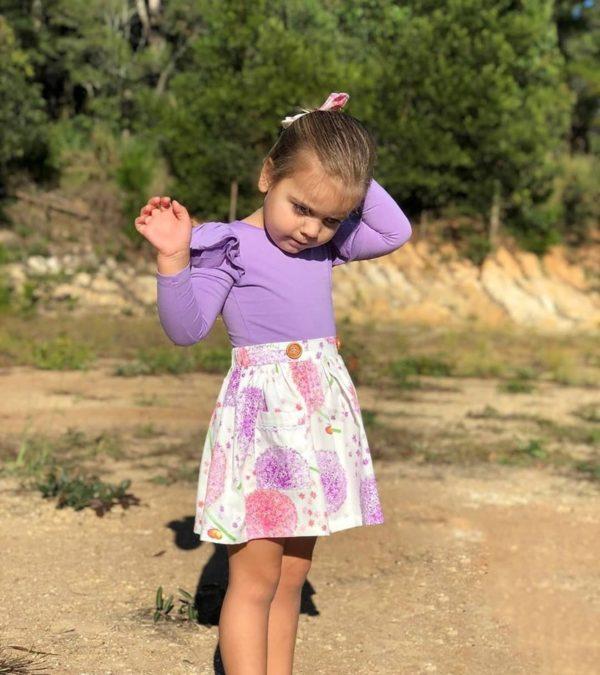 Pink Dandelion Skirt by My Little Threads