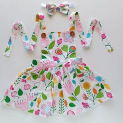 Holland Pinafore Dress by My Little Threads