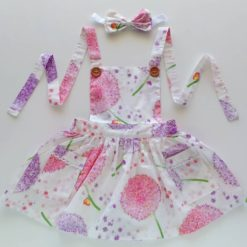 Pink Dandelion Pinnny by My Little Theads Australia