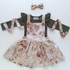 Vintage Rose Pinafore Dress