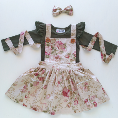 Vintage Rose Pinafore Dress