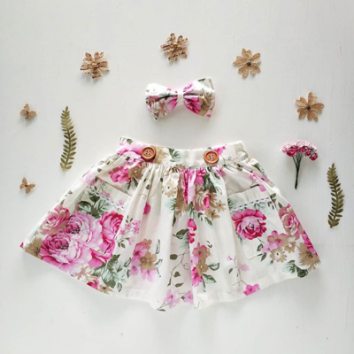 girls floral Portland Pink Skirt