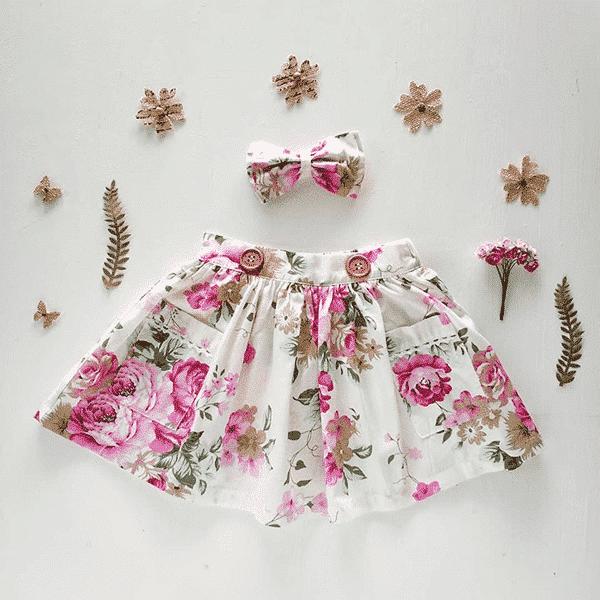 girls floral Portland Pink Skirt