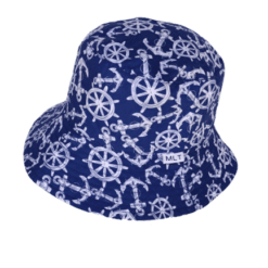Sailor and Anchors Navy Bucket Hat