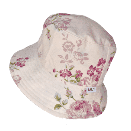 Tucson - Large Print Cream Floral Bucket Hat