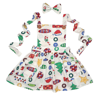 Holly Christmas Pinny Dress - My Little Threads