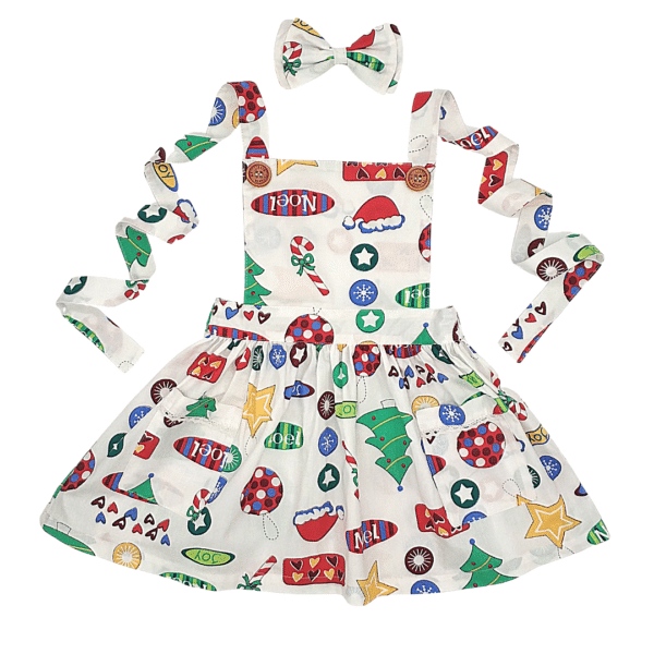 Holly Christmas Pinny Dress - My Little Threads