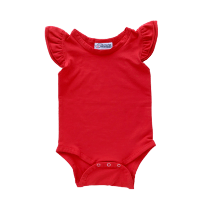 Red Fluttersuit - red sleeveless flutter