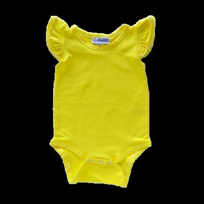 Pineapple Yellow Flutter leotard suit onesie