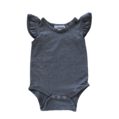 Stormy Grey Flutter leotard suit onesie