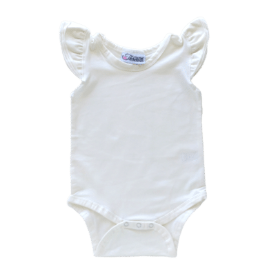 Cream Flutter leotard suit onesie