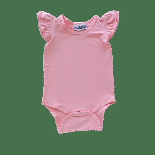 Peachypink Flutter leotard suit onesie
