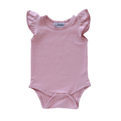 Dusty Pink Flutter leotard suit onesie