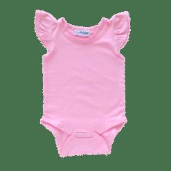 Bubblegum Pink Flutter leotard suit onesie