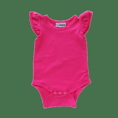 Dark Pink Flutter leotard suit onesie