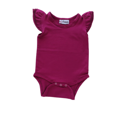 Berry Flutter leotard suit onesie