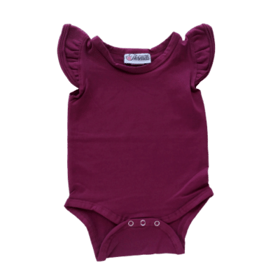 Wine Flutter leotard suit onesie