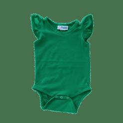Emerald Green Flutter leotard suit onesie
