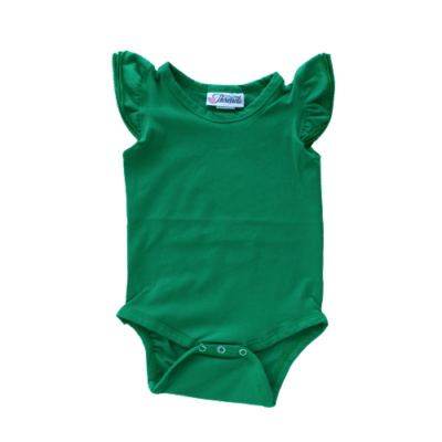 Emerald Green Flutter leotard suit onesie