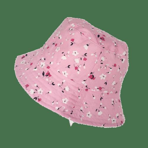 Empria Pink Floral kids bucket Hat Pretty Pink Sunhat