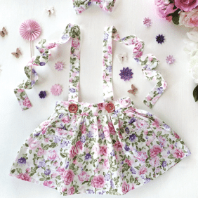 Atlanta floral suspender skirt