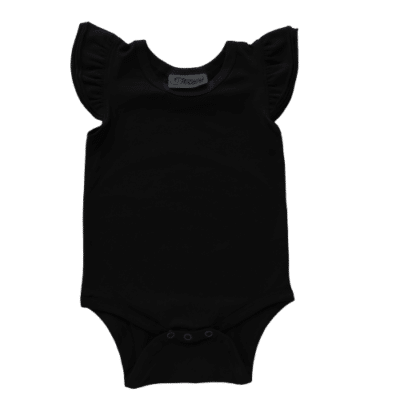 black Flutter leotard suit onesie