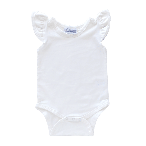 white Flutter leotard suit onesie