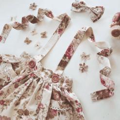 Vintage Rose Suspender Skirt