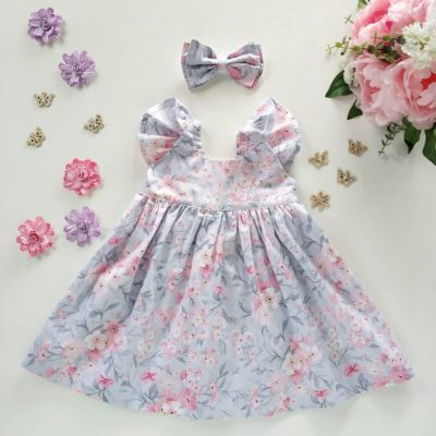 Indianapolis Flutter Girls Floral Dress