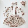 Vintage Rose Floral girls suspender skirt