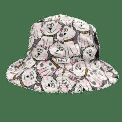 Kitty Cat Childrens bucket hat - pretty sun hat Australia