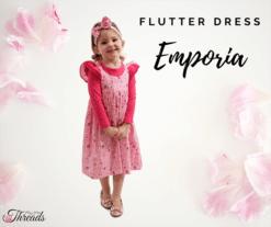 Emporia Pink flutter Dress