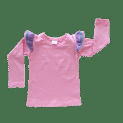 Bubblegum Pink Long sleeve Trifluttertop