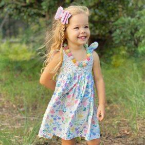 Chiciago Flutter Dress - Girls Floral Dress Australia
