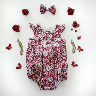 Rose City -Ruby Flutter Plaaysuit Romper