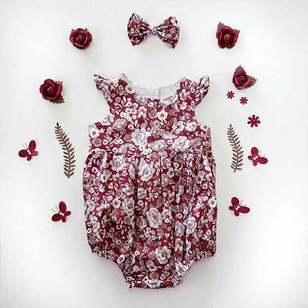Rose City -Ruby Flutter Plaaysuit Romper