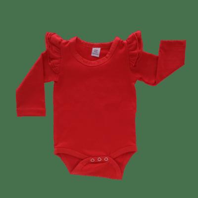 REd long sleeve fluttersuit