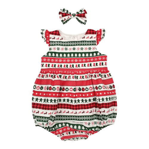 Christmas Bubble baby romper