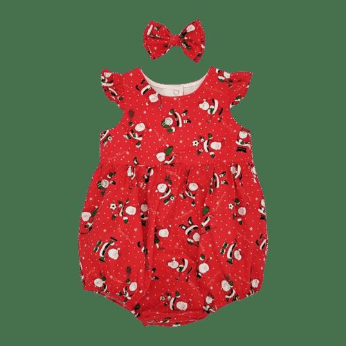 Christmas Bubble baby romper - Santa baby