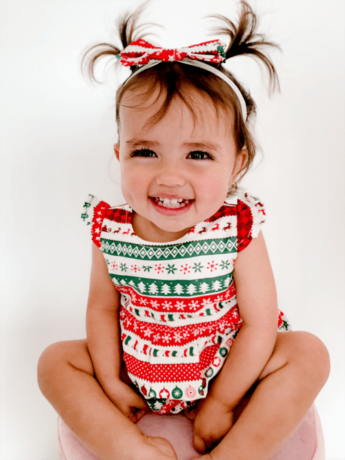 Unique Baby Christmas outfit romper onesie