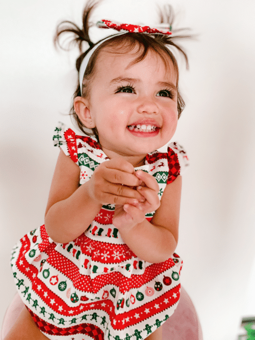Cute Unique Baby Christmas outfit romper onesie