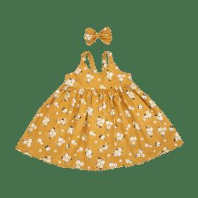 Mustard Floral summer Dress