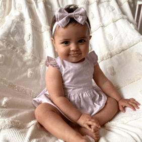 Baby playsuit lilac romper