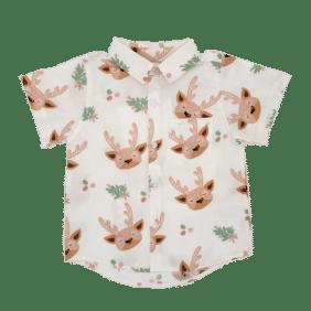 Matching Boys Christmas button Up shirt