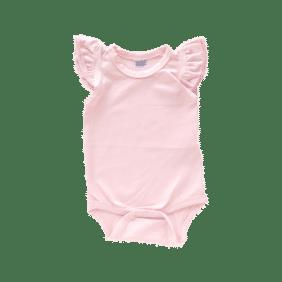 light pink fluttersuit onesie