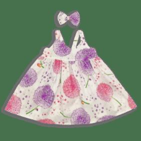 Pink Dandelion Dress Front